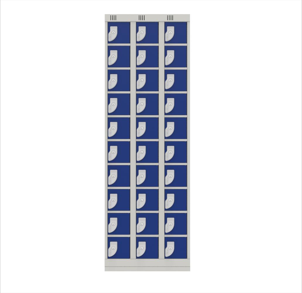 NK 3709 – GUARDA VOLUMES DE AÇO 30 PORTAS PEQUENOS VOLUMES
