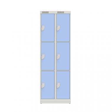 NK 2333 – GUARDA VOLUMES EM AÇO 6 PORTAS