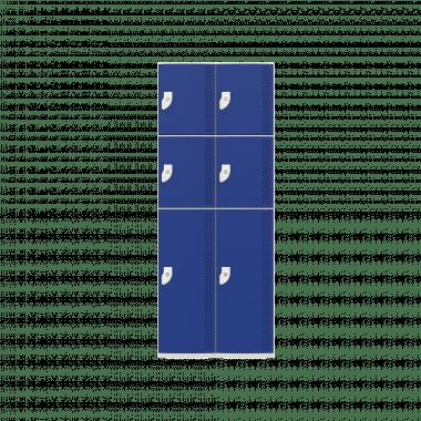 NK 2383 - GUARDA-VOLUMES DE PLÁSTICO 6 PORTAS - LINHA NR 24
