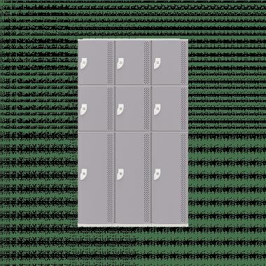 NK 3383 - GUARDA-VOLUMES DE PLÁSTICO 9 PORTAS - LINHA NR 24