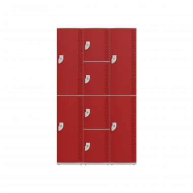 NK 3384 - GUARDA-VOLUMES DE PLÁSTICO 8 PORTAS - LINHA NR 24