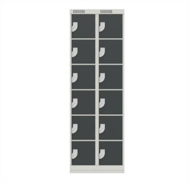 NK 2306 – GUARDA VOLUMES DE AÇO 12 PORTAS